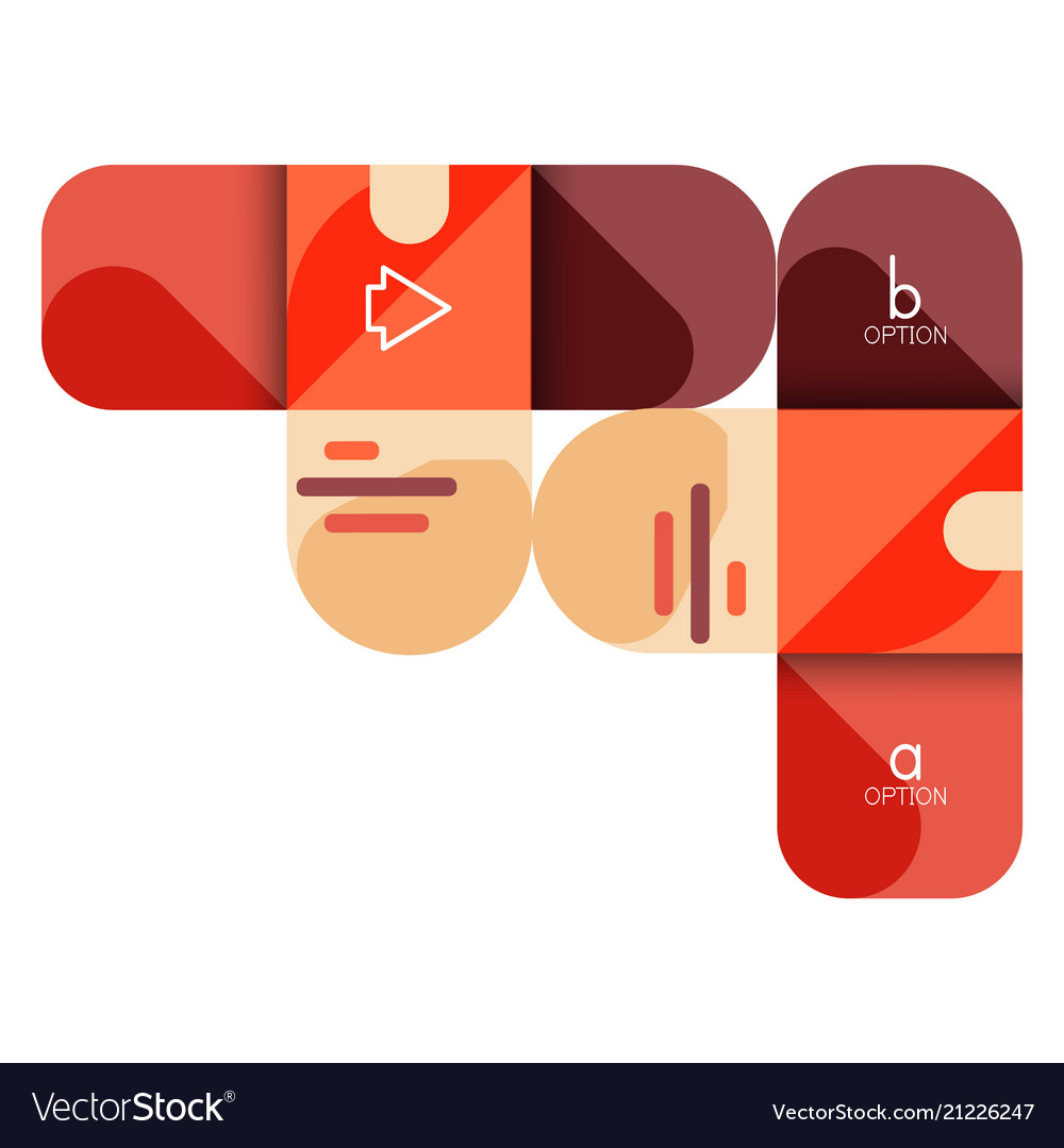 Infographics option and step by step in rounded