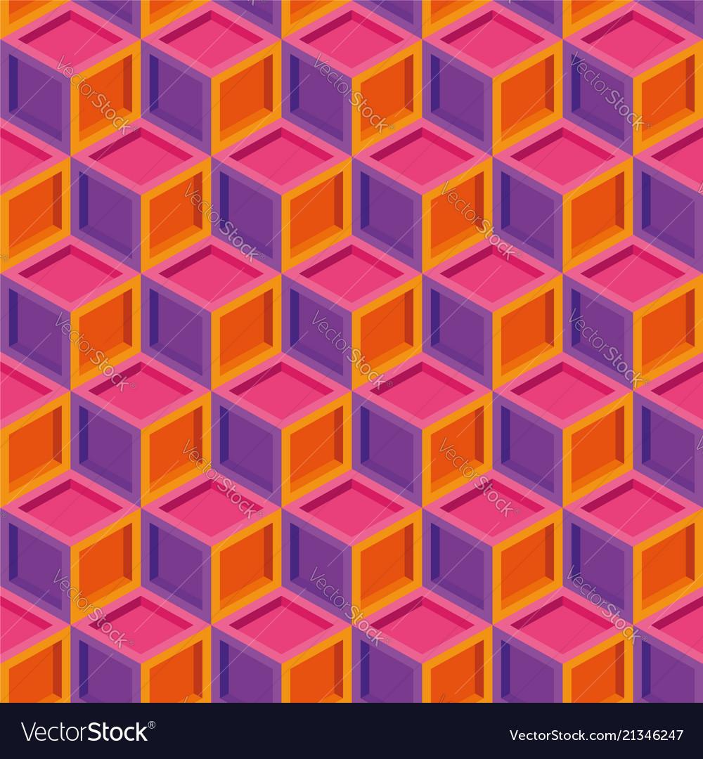 Seamless repeating cube shape print