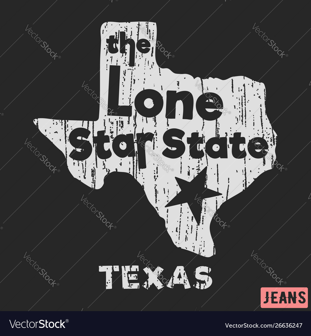 T-shirt print design texas - lone star state