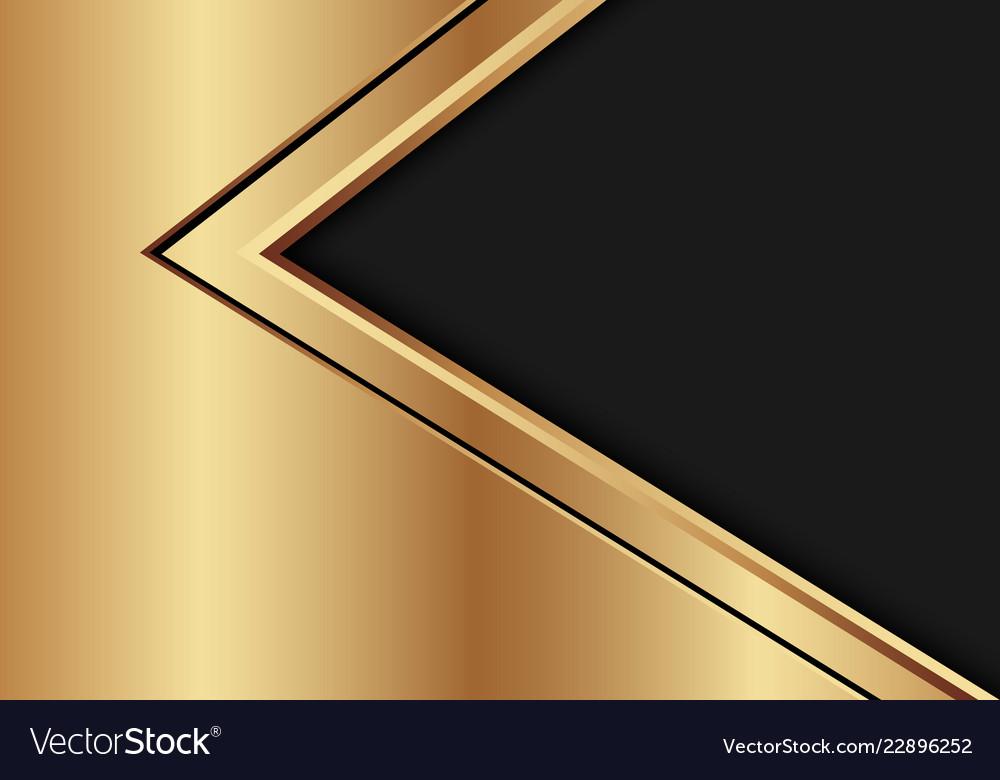 Abstract Gold Black Arrow Direction On Dark