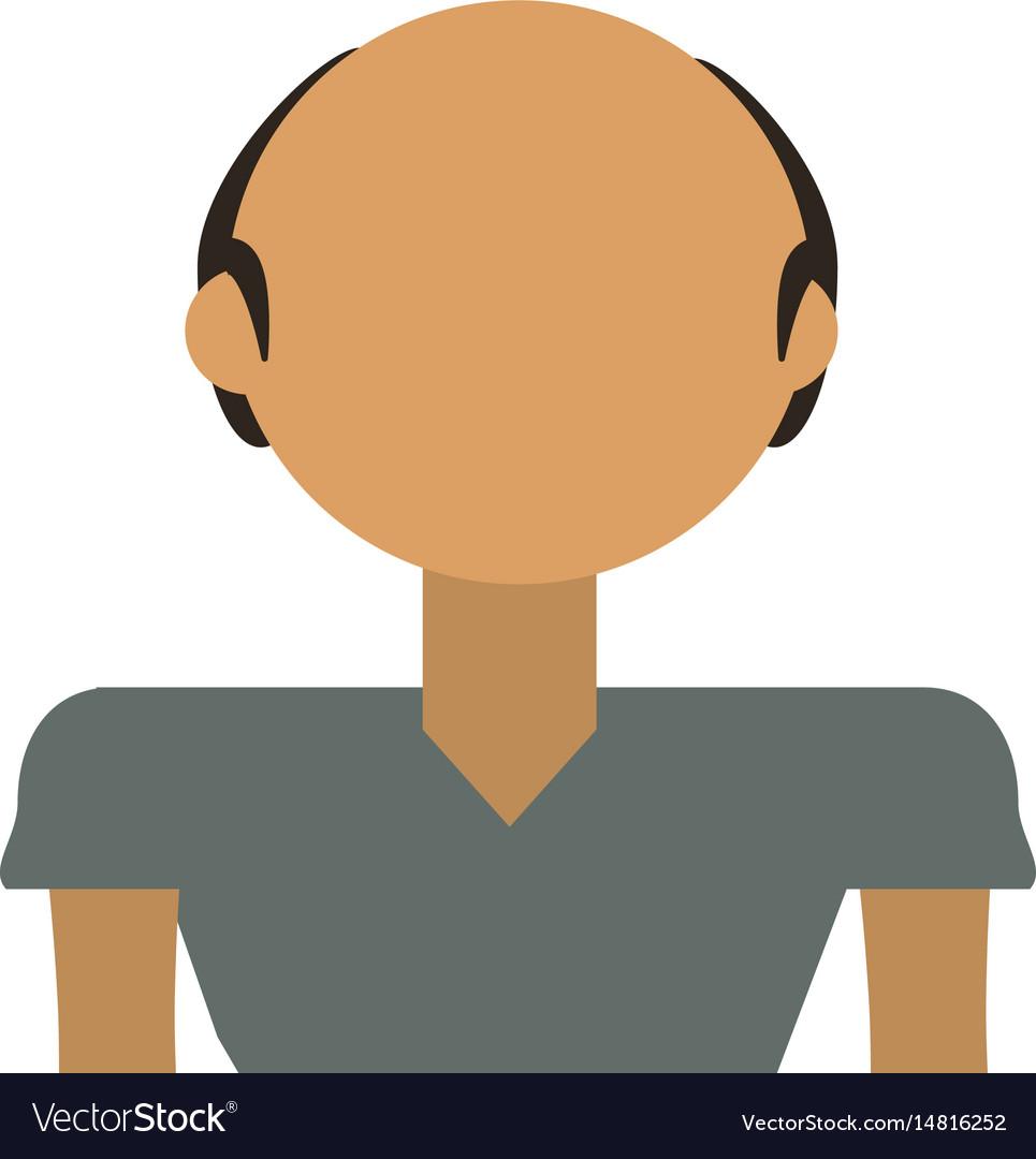 Adult male bald vector image