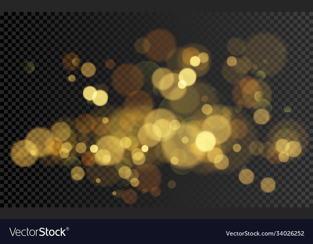 Bokeh effect christmas glowing warm golden