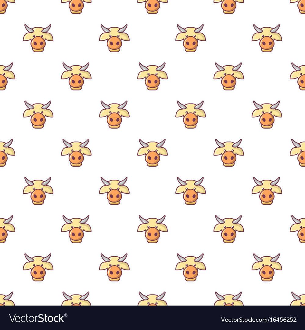 Cow head pattern seamless