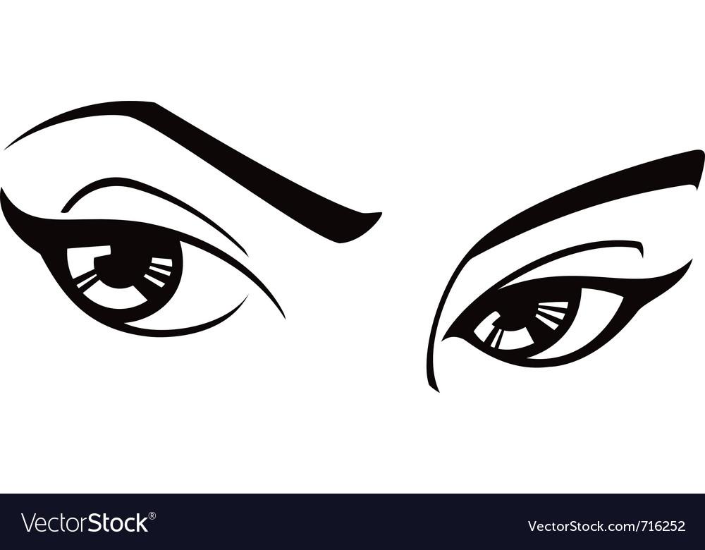 female eyes royalty free vector image vectorstock rh vectorstock com eye vector logo eyes vector clip art