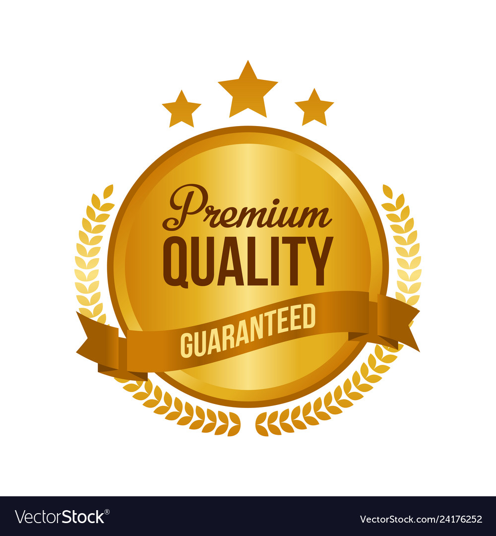 Guaranteed premium quality gold sign round label