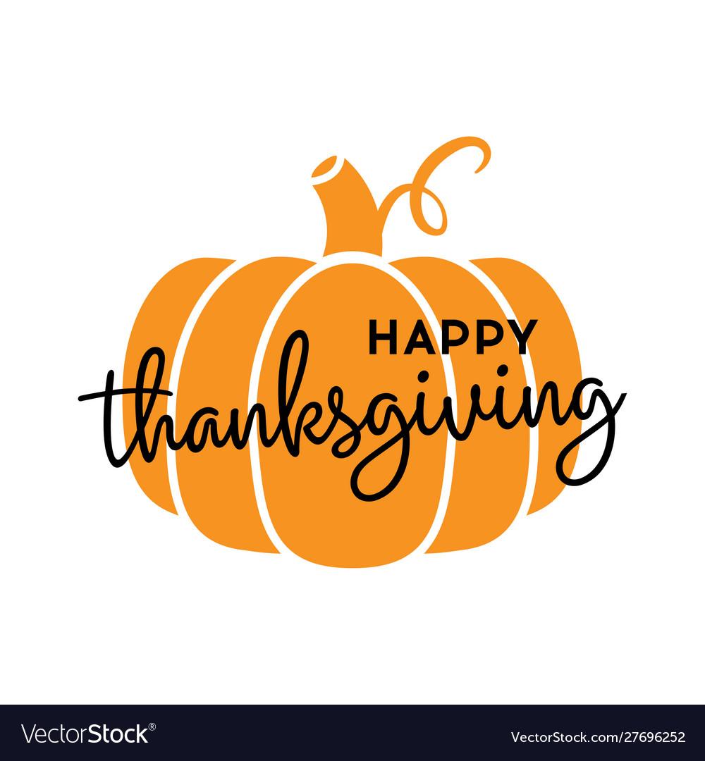 Happy thanksgiving pumpkin icon