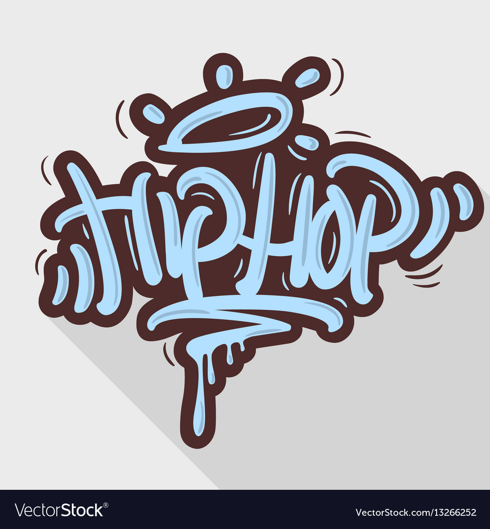 Hip Hop Tag Graffiti Style Label Lettering Vector Image Stock Photo