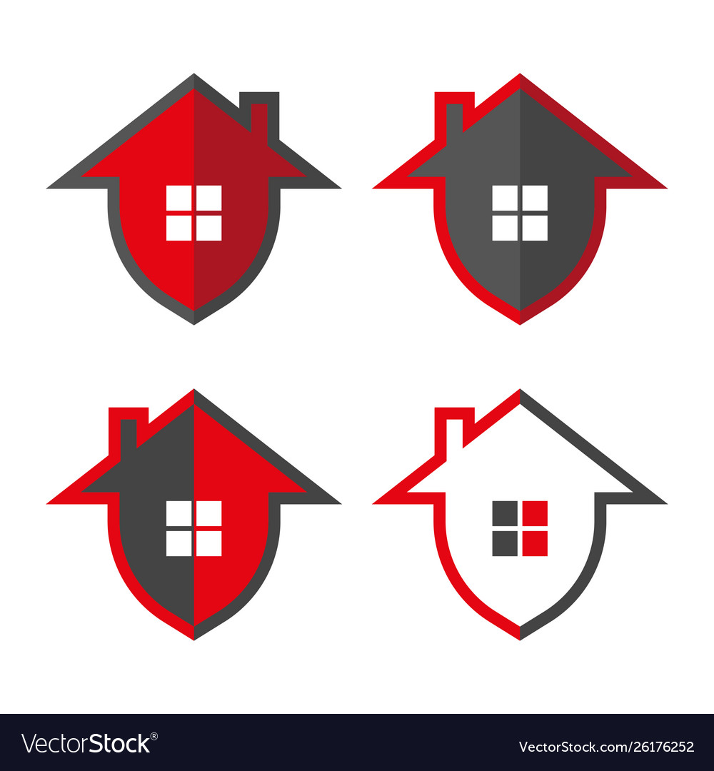 Home security home in form shield
