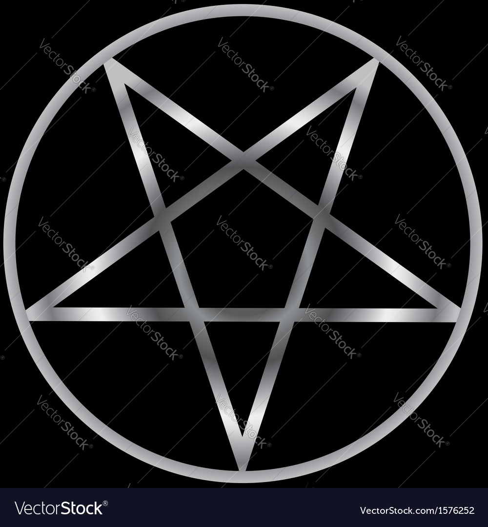 Pentacle Religious Symbol Of Satanism Royalty Free Vector
