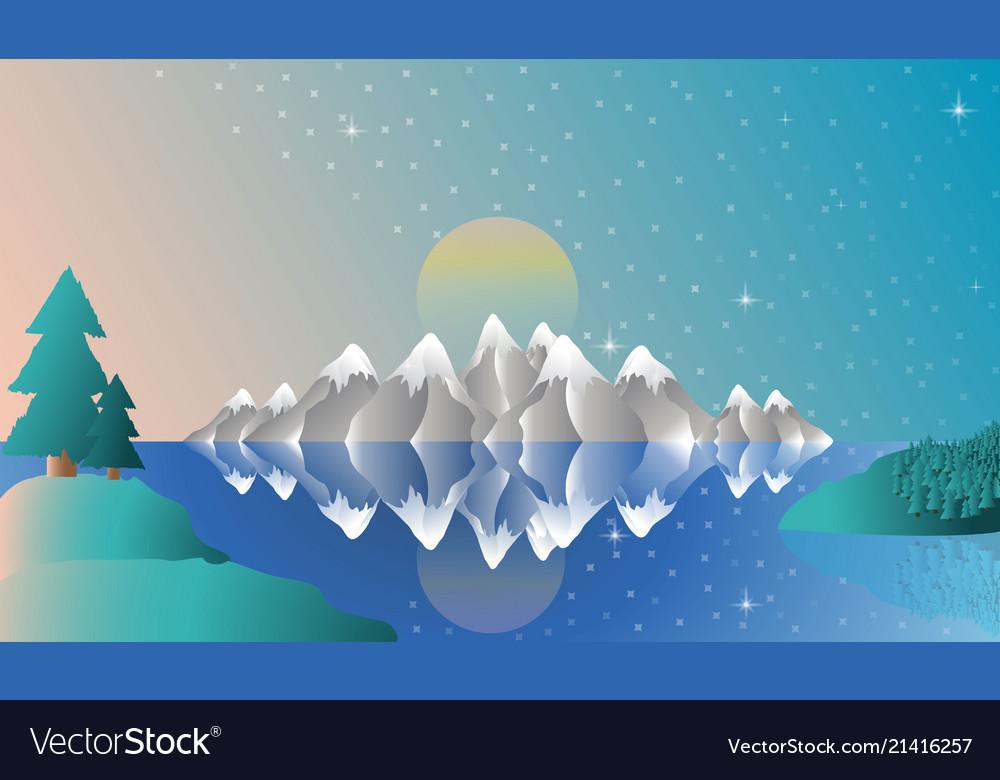 Alps full screen winter
