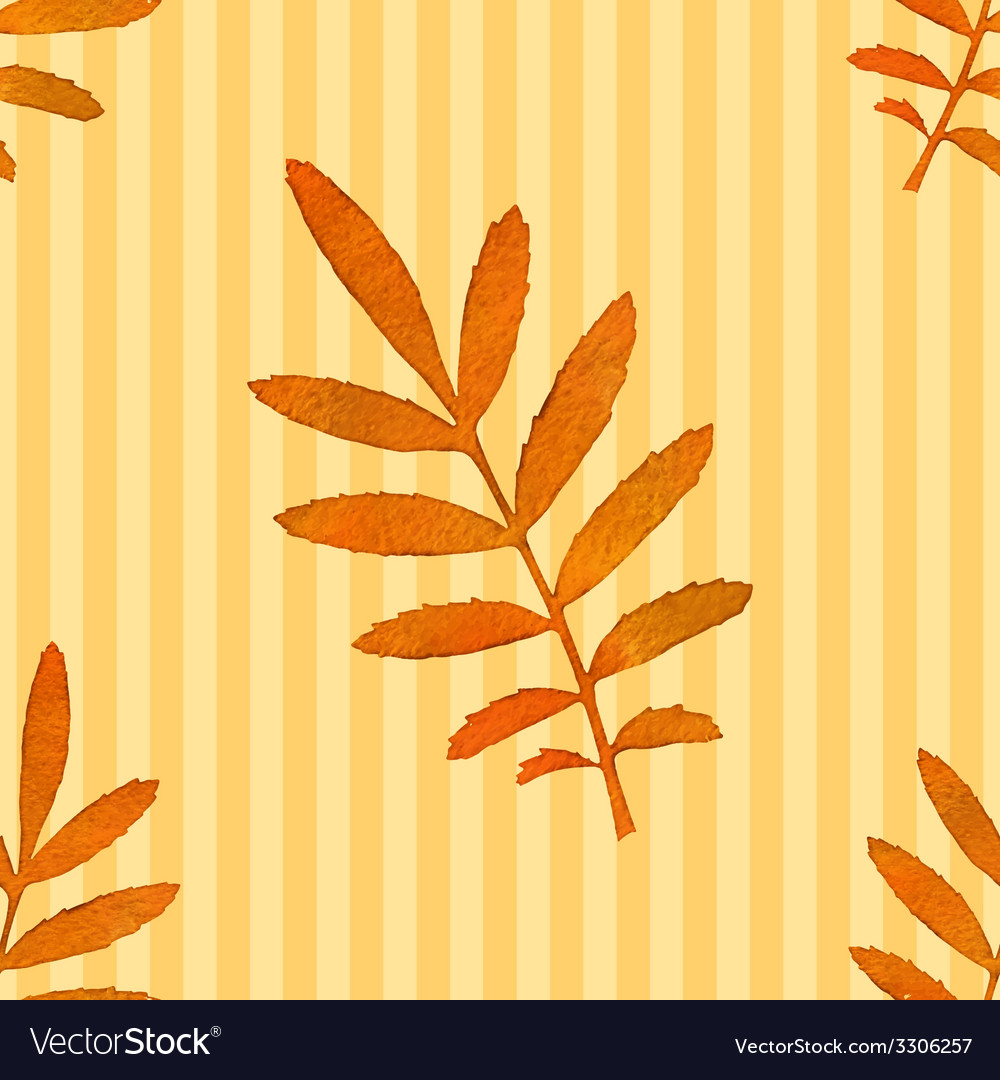 Autumn watercolor leaf seamless pattern