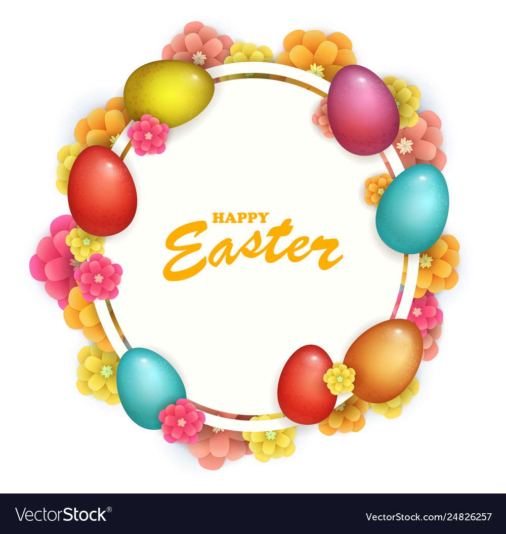 Beautiful fresh background happy easter holiday