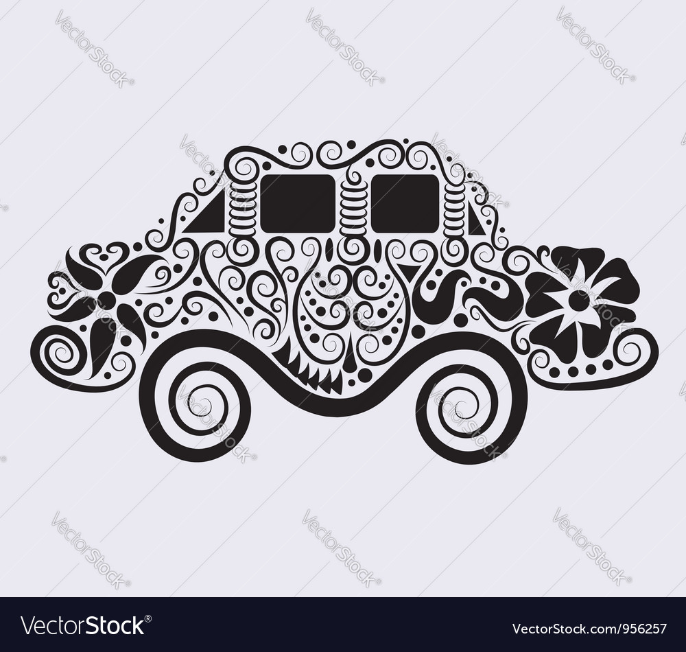 Car ornament vector image