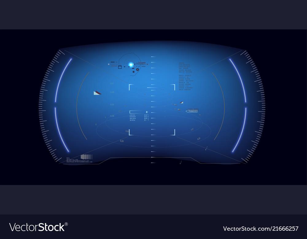 Futuristic hud interface screen design