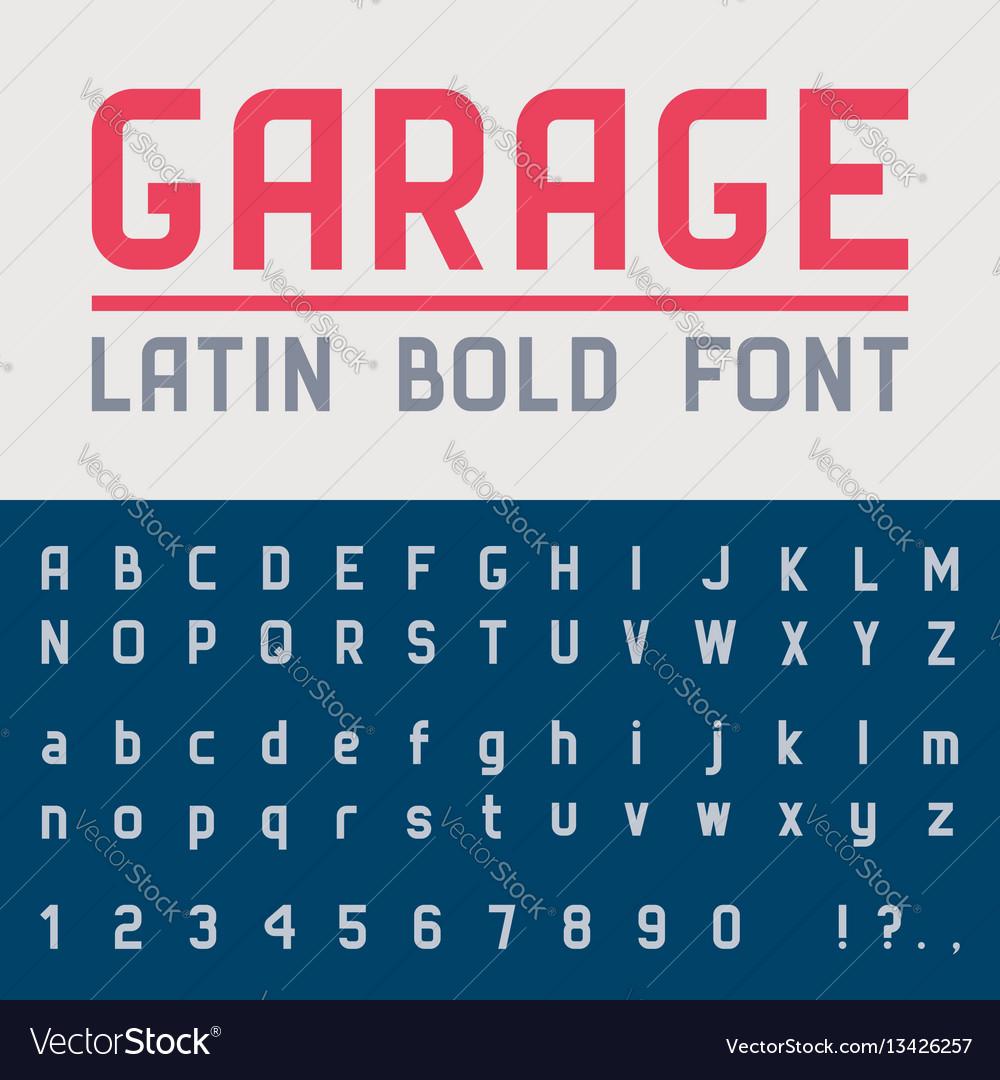 Garage bold font