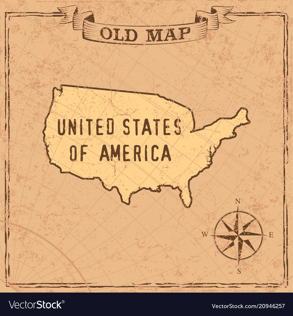 Old style usa map