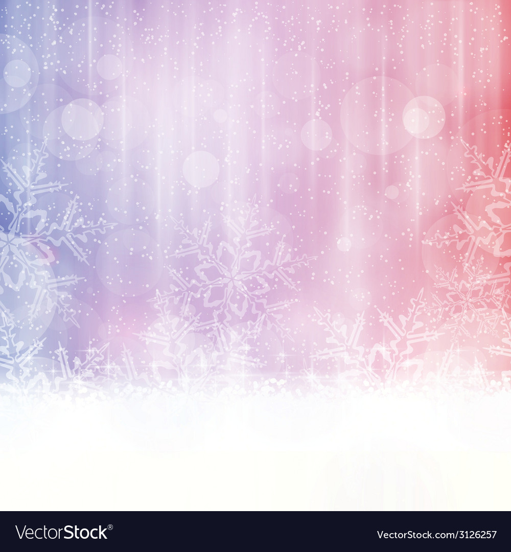 Snowflake background with blurry lights