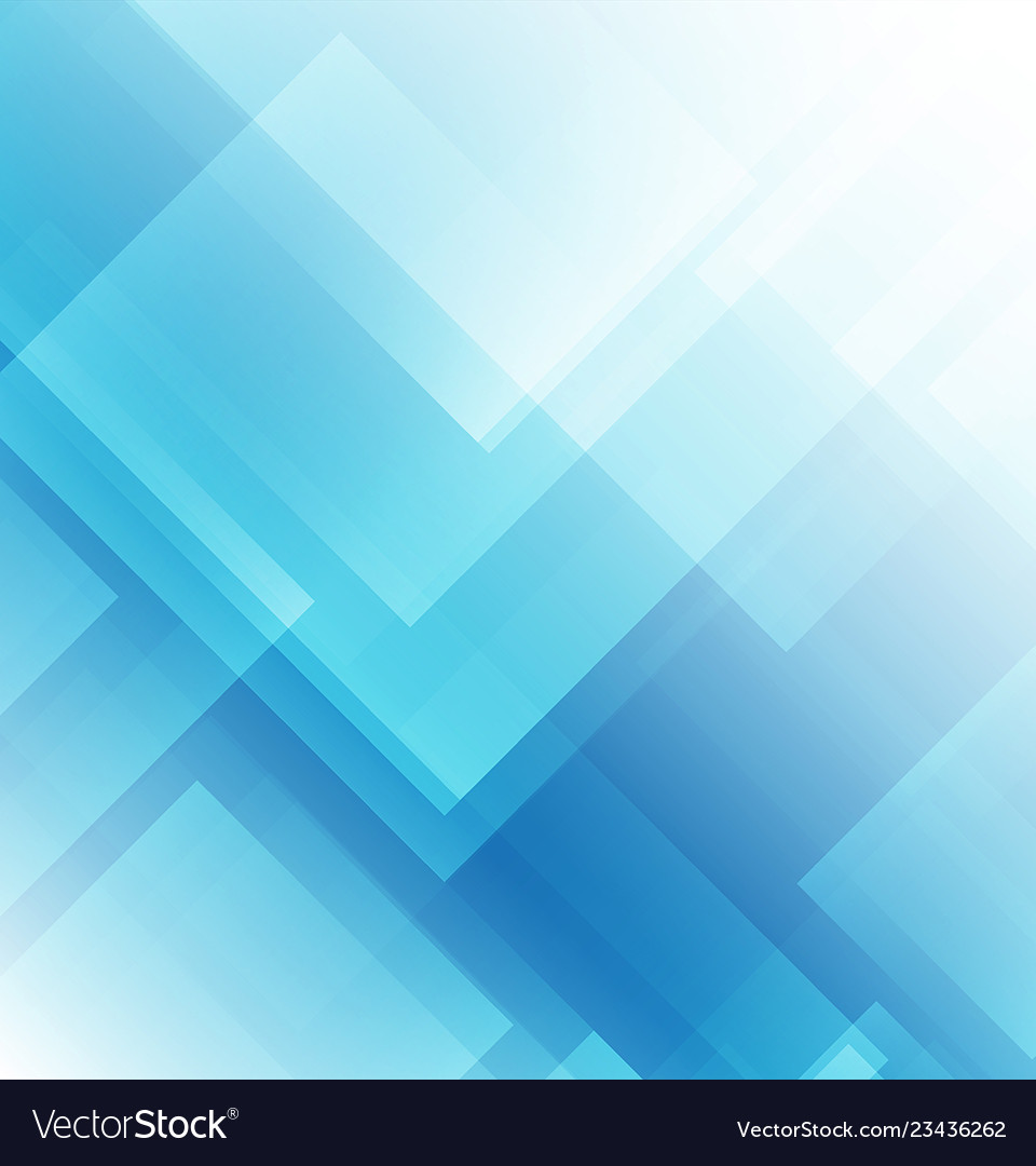 Abstract Square Shapes On Blue Background