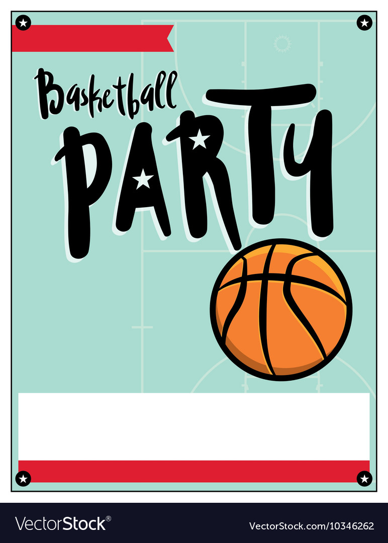 basketball party flyer royalty free vector image