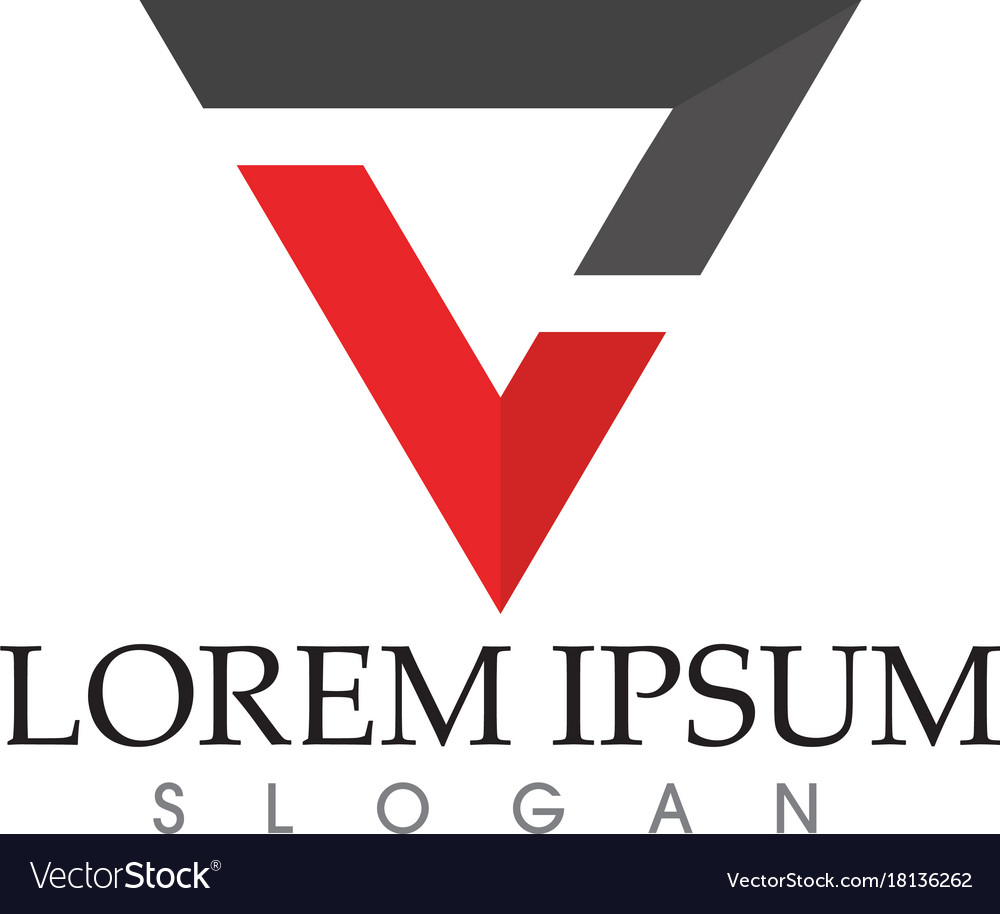 Business abstract logo design template vector image