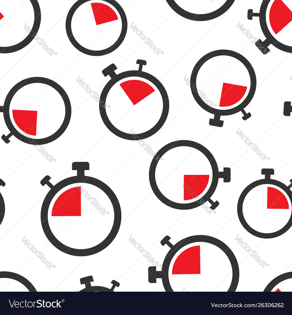 Clock sign icon seamless pattern background time