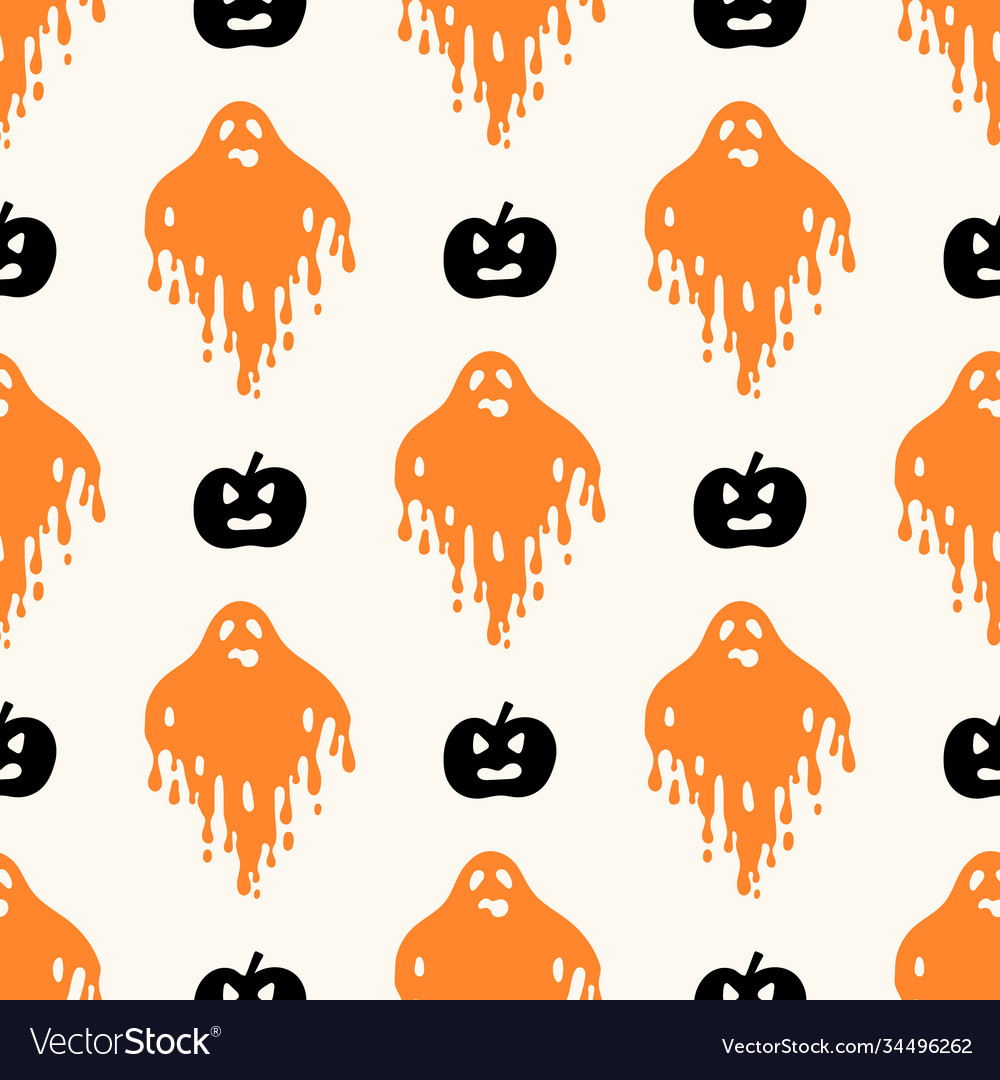 Geometric halloween seamless pattern with