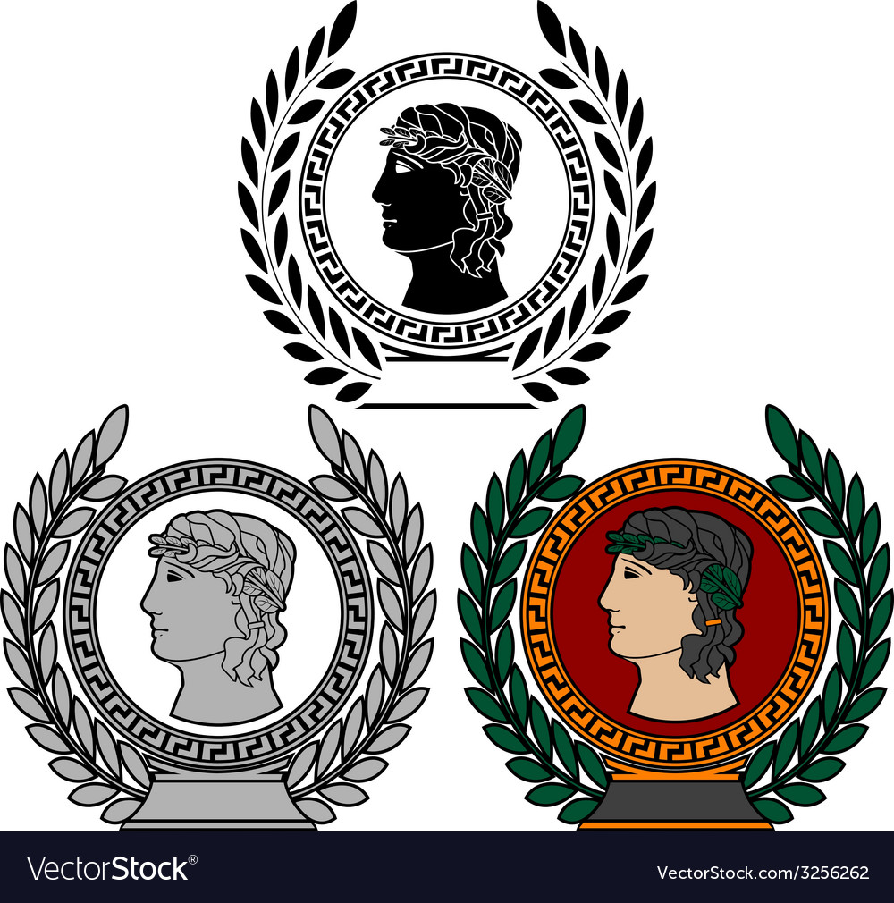 Glory of ancient greek man vector image