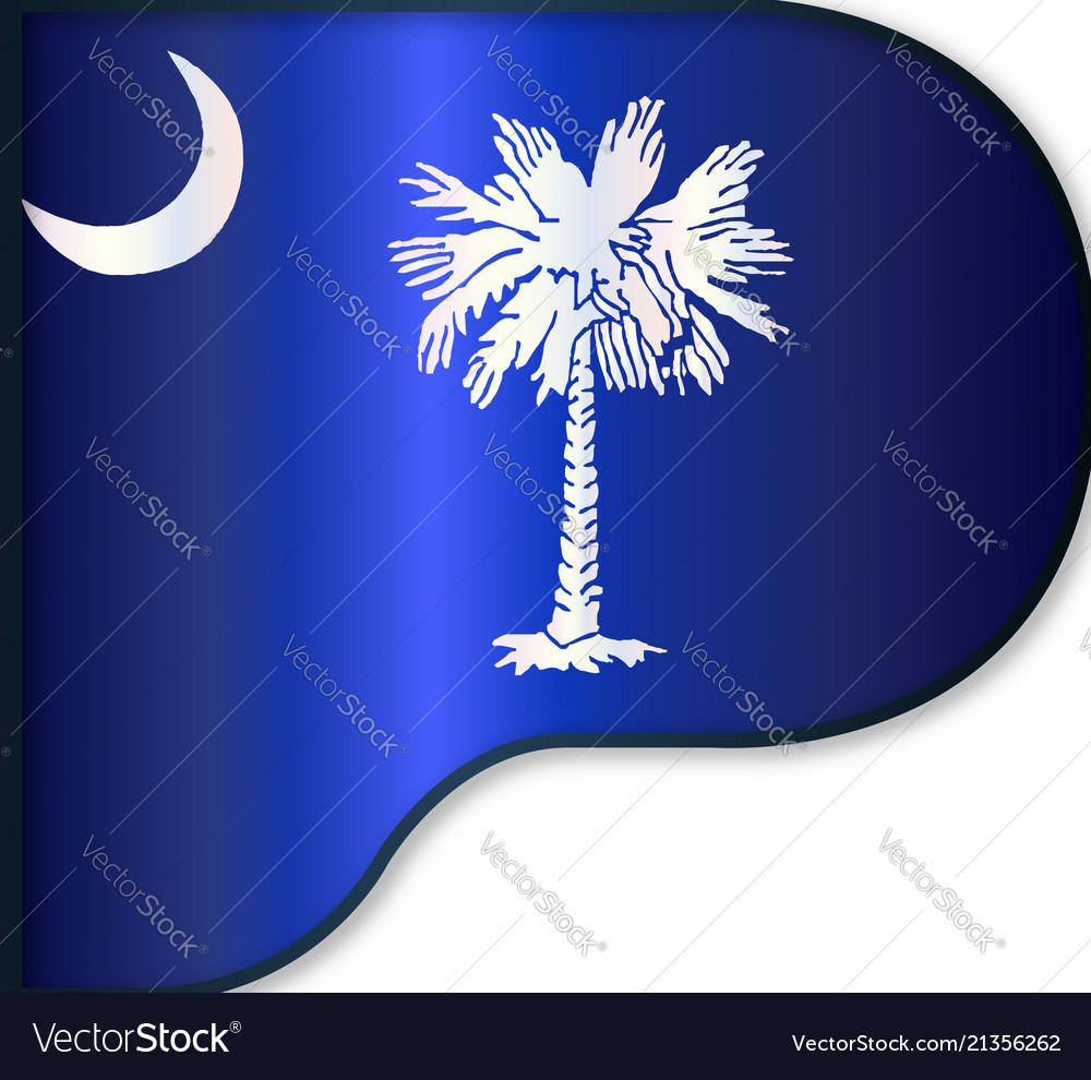 Grand Piano South Carolina Flag Royalty Free Vector Image