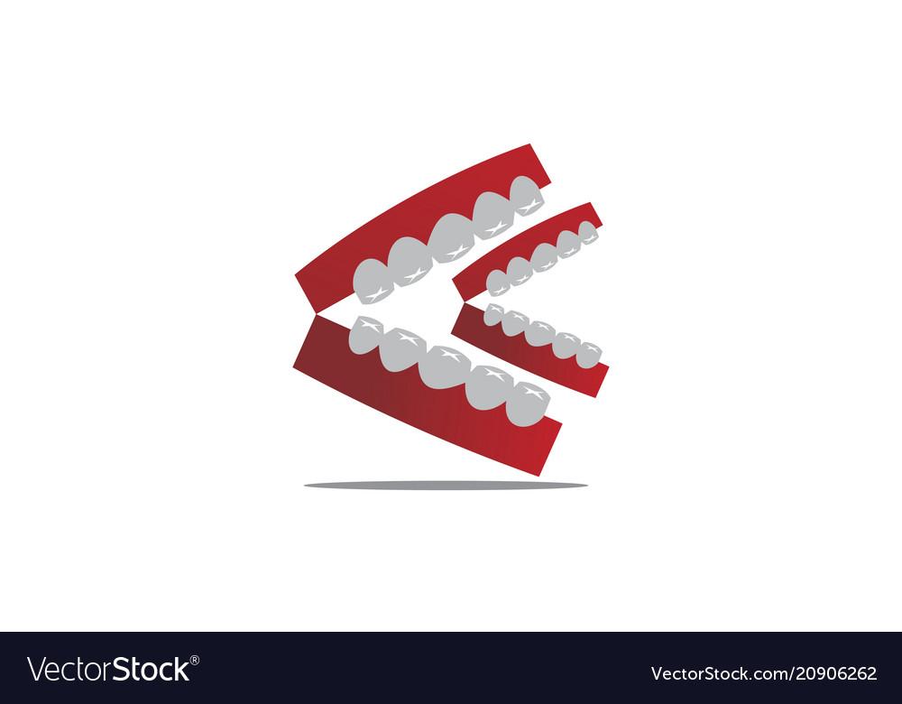 Happy dental logo design template