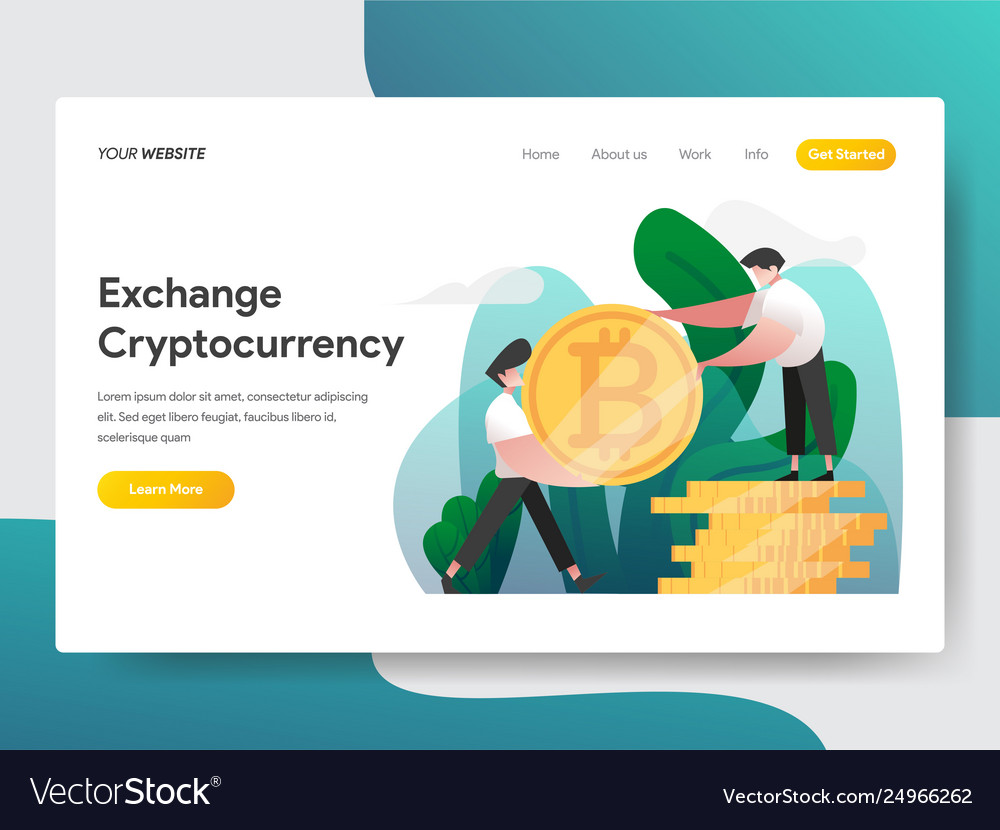 Landing page template cryptocurrency exchange