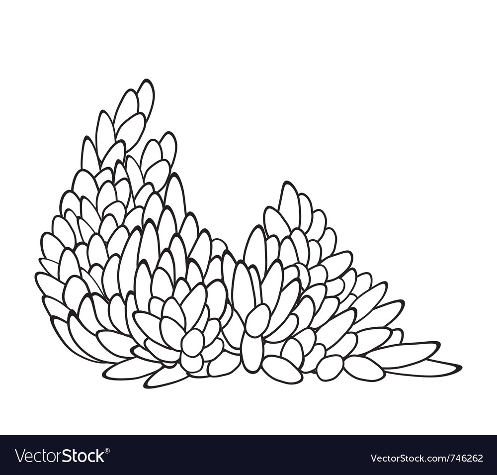 Leaf Pattern In Black And White Royalty Free Vector Image
