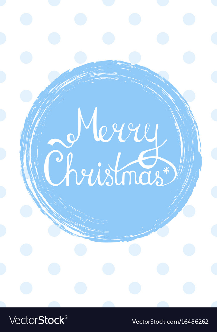 Merry christmas lettering text into winter
