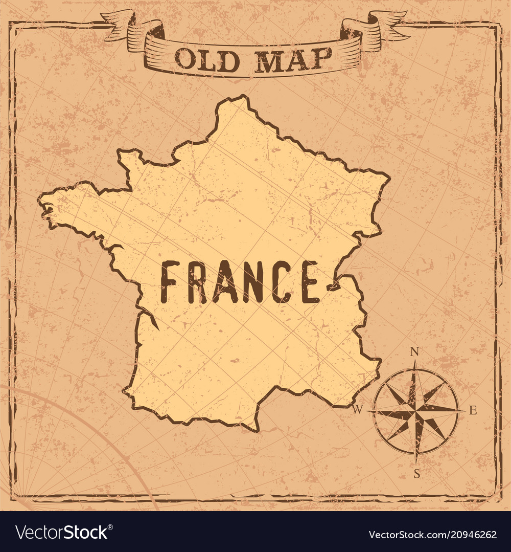 Old Map Of France.Old Style France Map