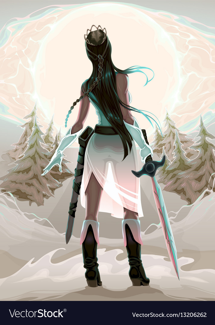 Princess warrior in the wood