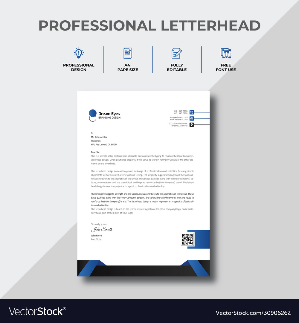 Sample Of Letter Head from cdn3.vectorstock.com
