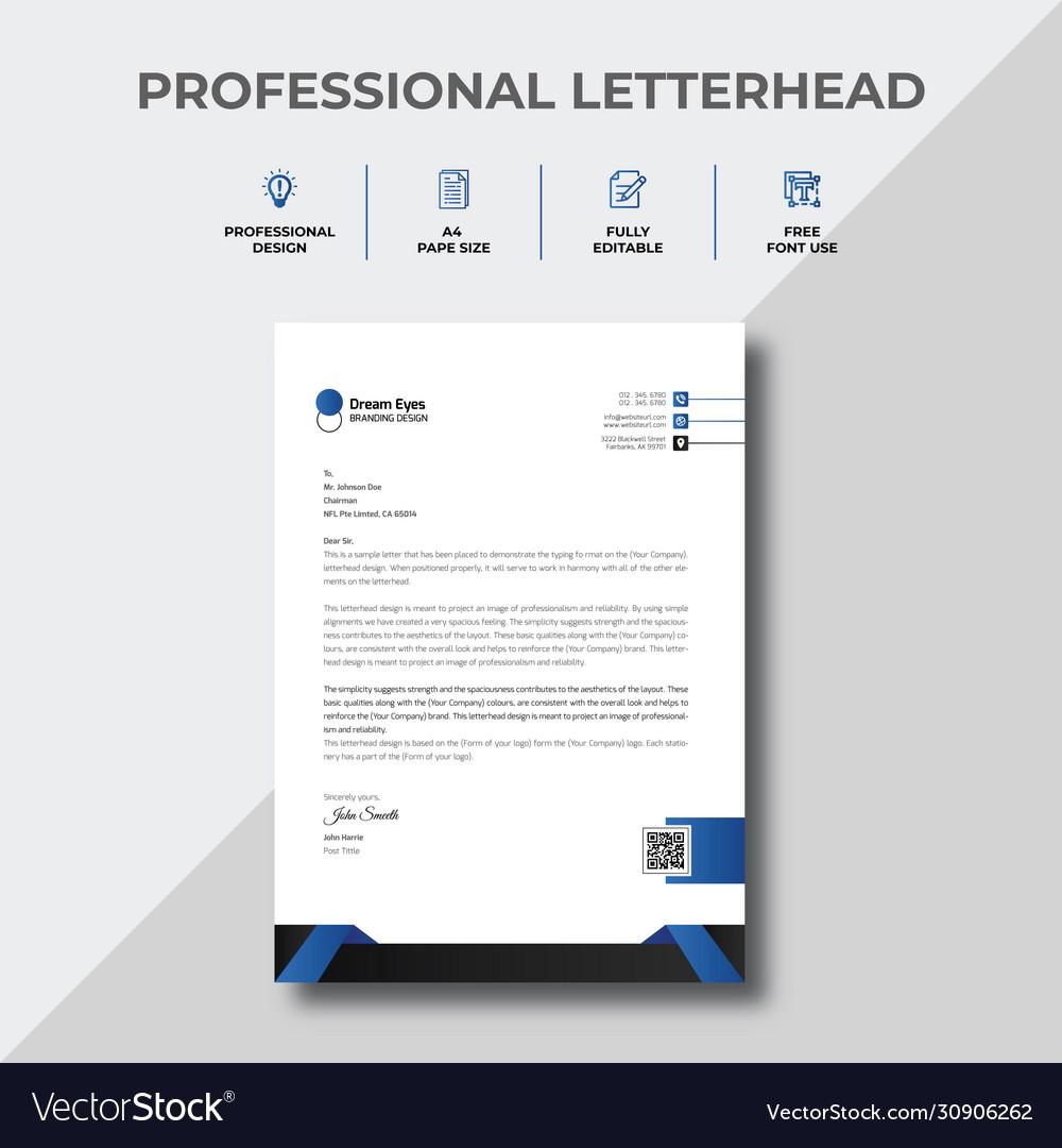 Sample Of Letter Head from cdn3.vectorstock.com