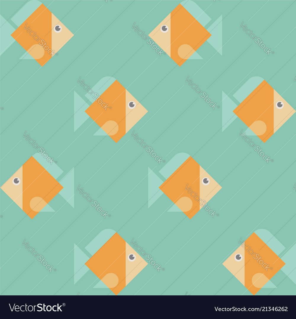 Seamless eight orange fishes pattern texture