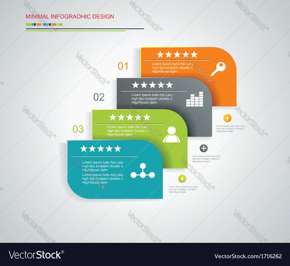 Template for interface or infographic ready to