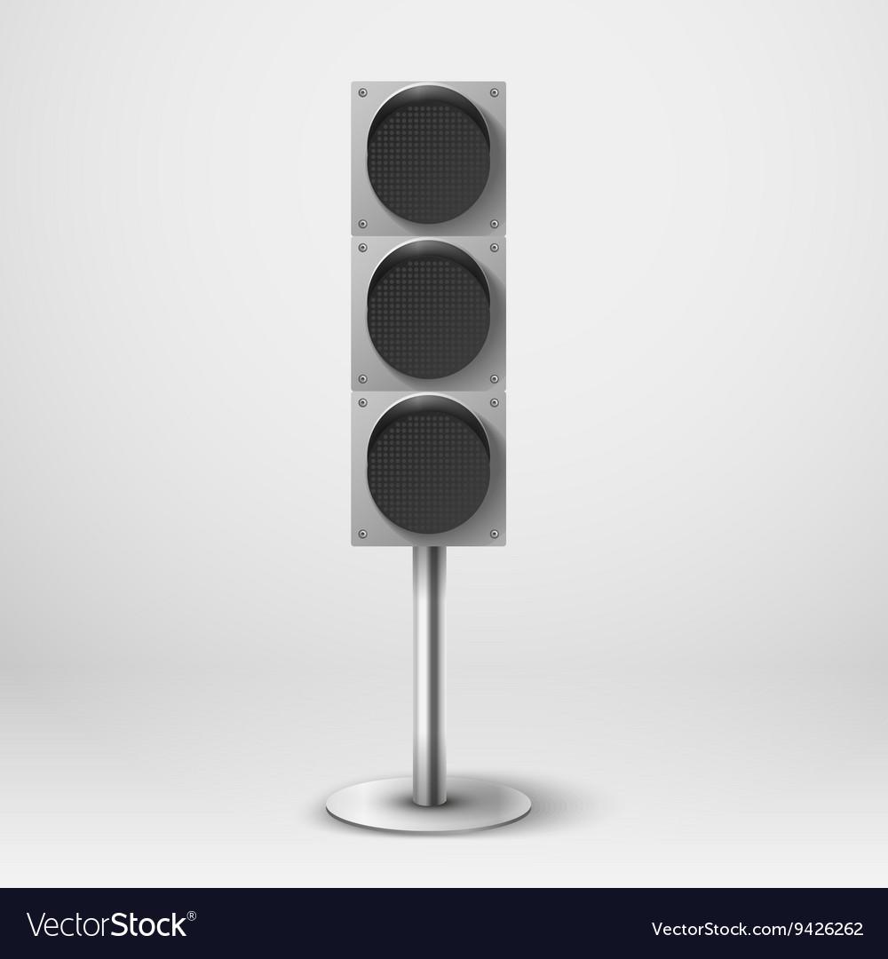 traffic light diod traffic light template vector image