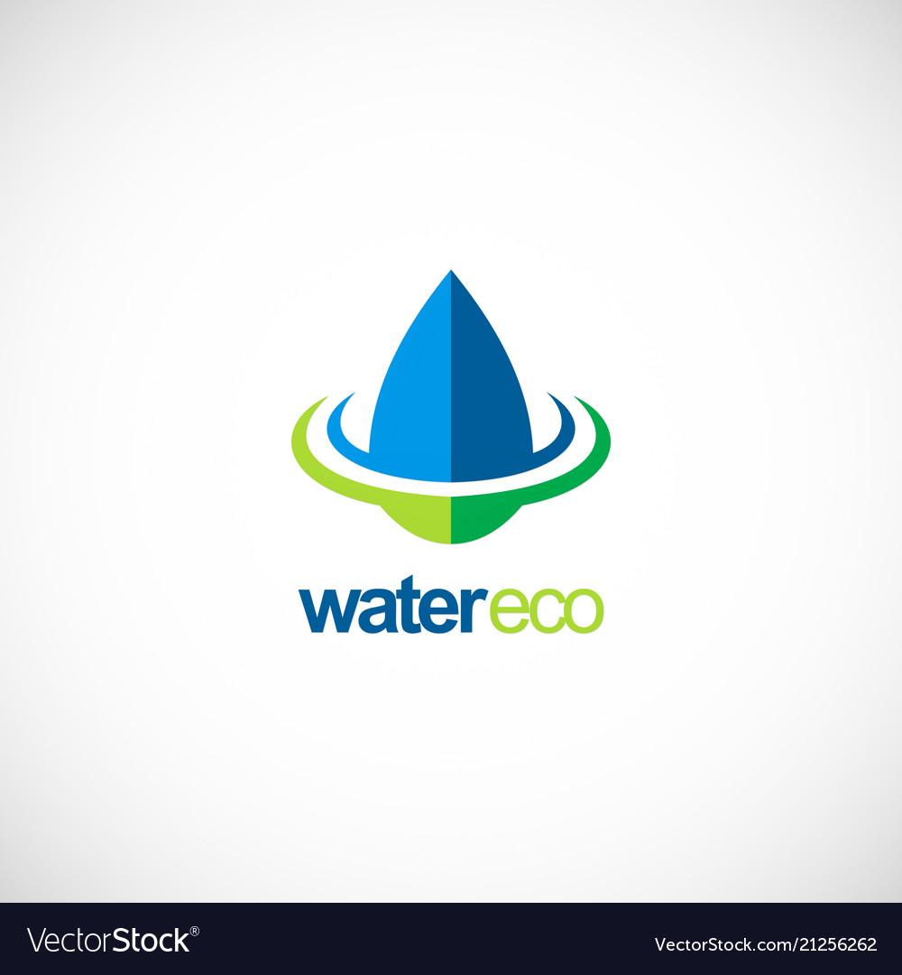Water drop ecology bio logo