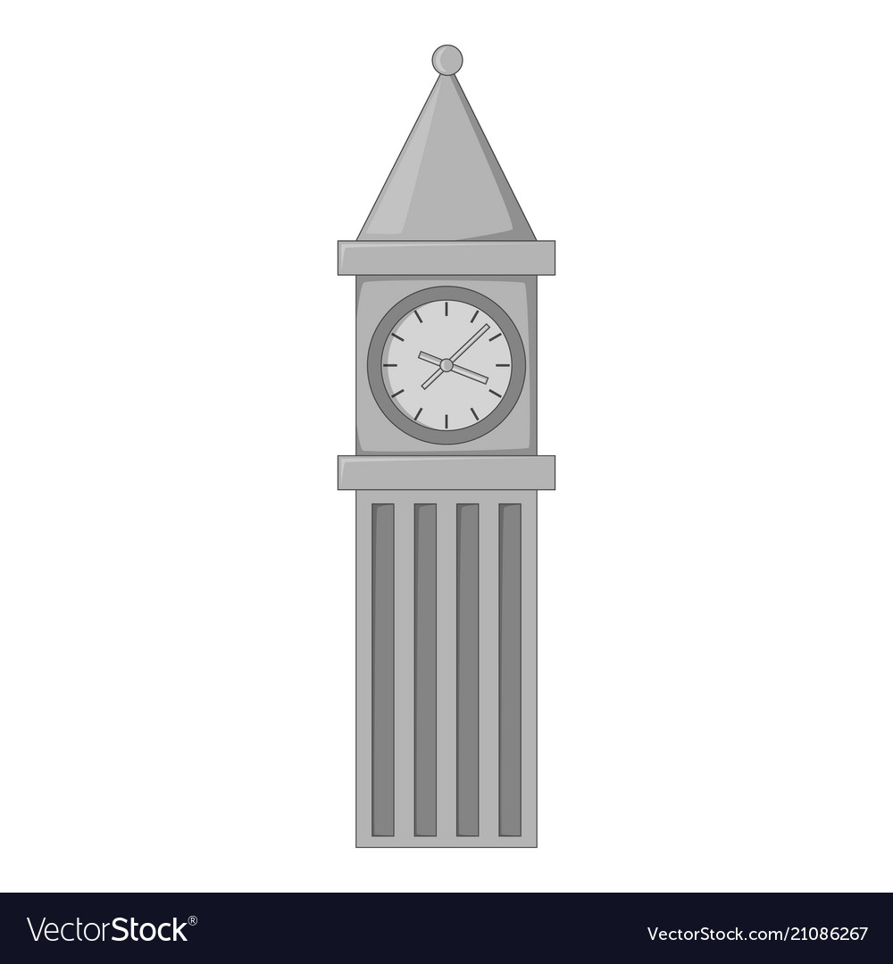 Big ben in london icon monochrome