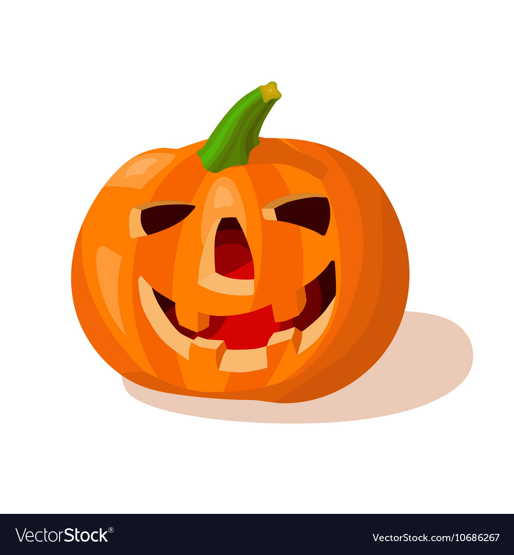 Cartoon halloween creepy pumpkin vector image