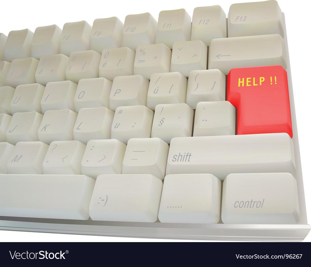 Computer keyboard help key