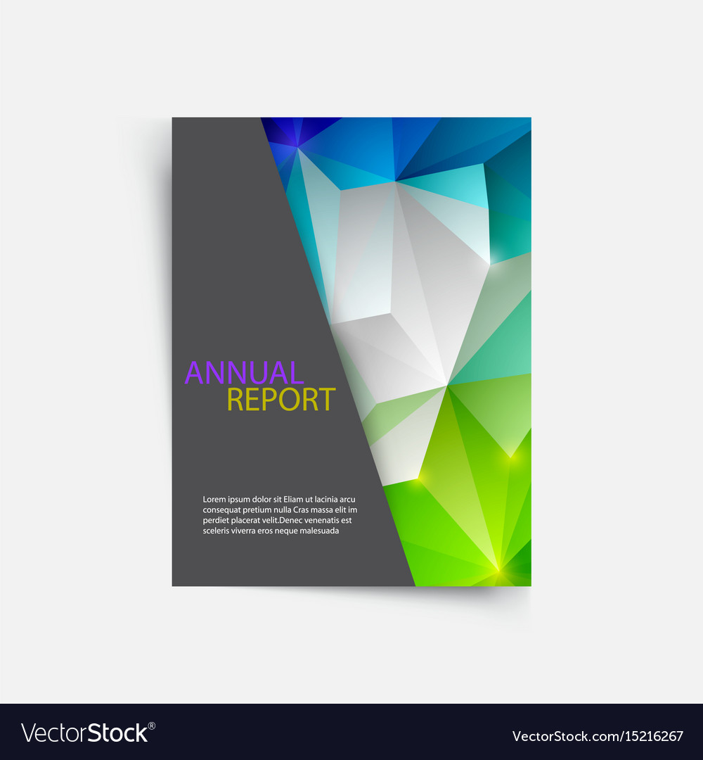 Cover magazine geometric shapes info-graphic for
