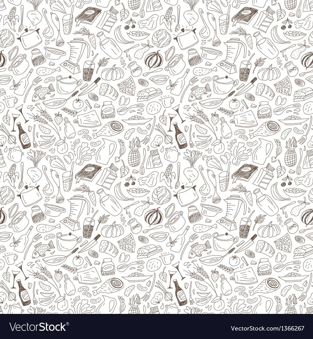 Natural food seamless pattern vector image