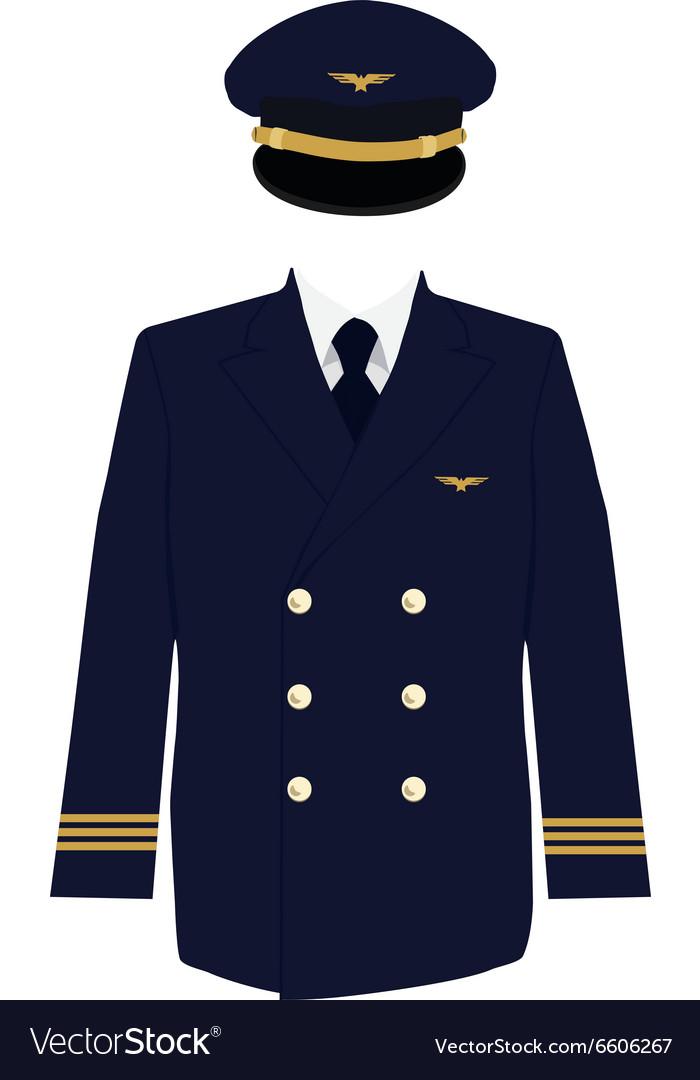 Pilot uniform vector image