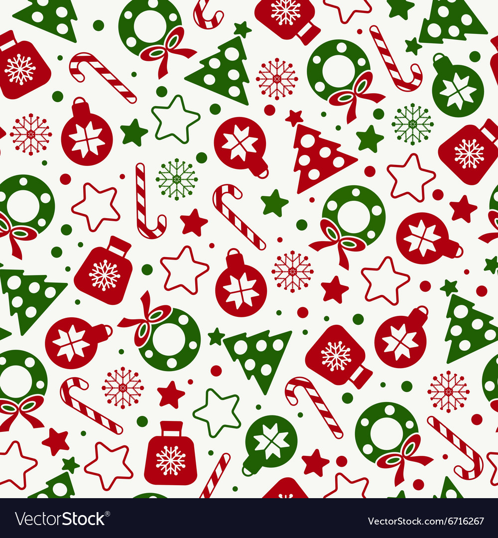 Christmas Texture.Seamless Pattern Of Christmas Texture Icons