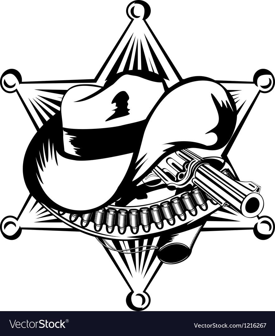 Sheriffs star vector image