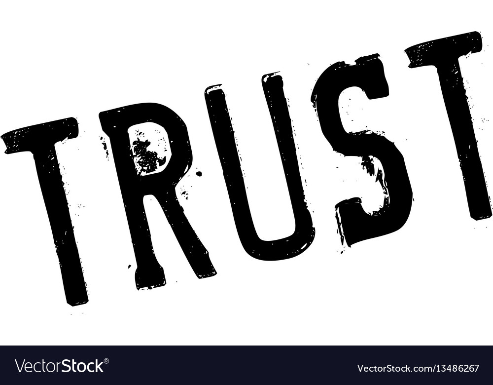 Trust rubber stamp vector image