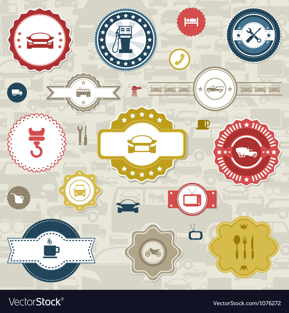 Car label vector image